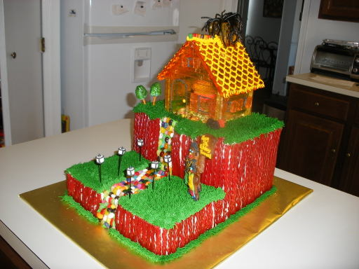 candy house cake